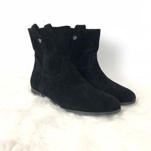 Frye & co. Black Suede Sarah Shortie Ankle Boots
